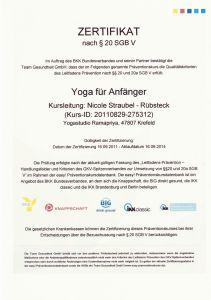 Yoga Anfaenger