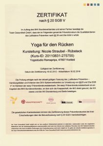 Yoga Ruecken
